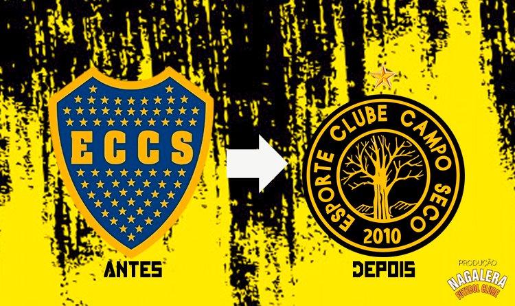 Campo Seco abandona escudo do Boca Jr e lança novo escudo nesta sexta-feira.